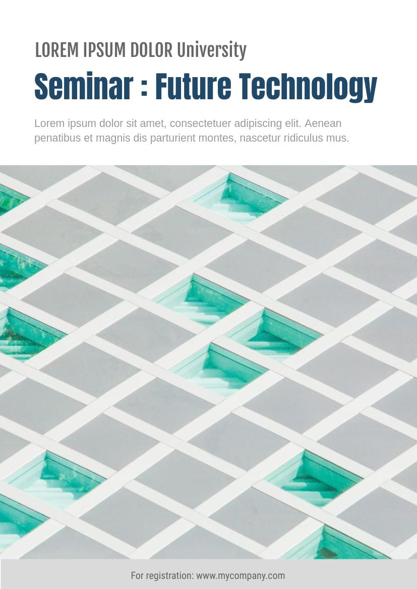 Flyer template: Seminar Flyer (Created by InfoART's Flyer maker)