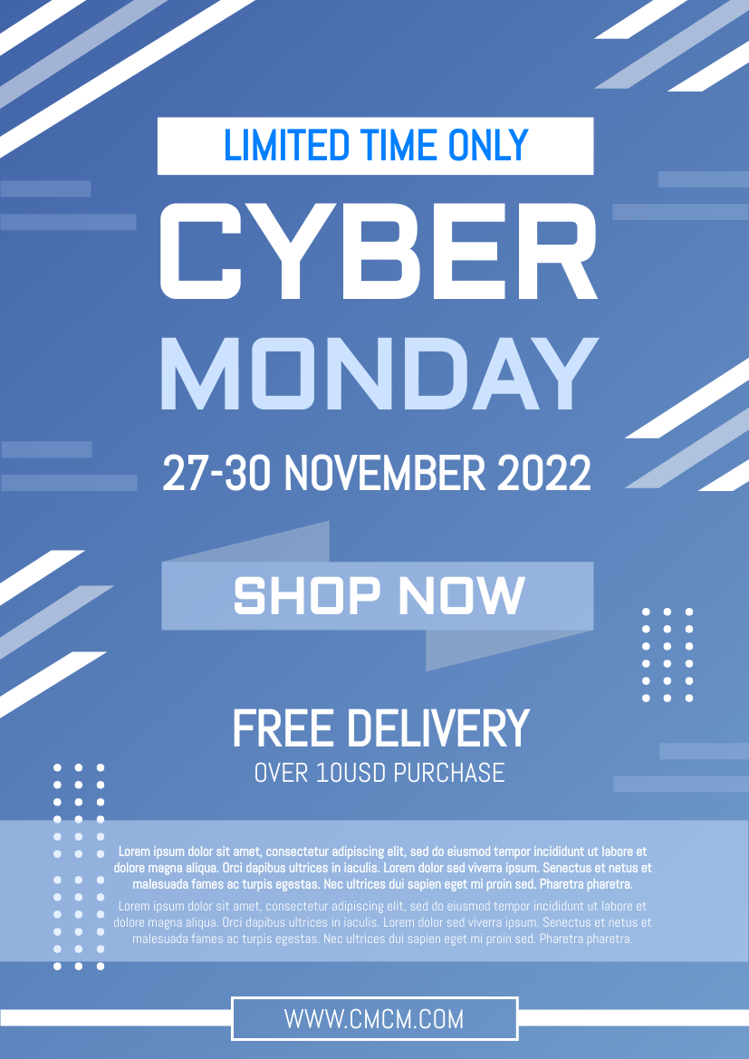 Flyer template: Refreshing Cyber Monday Delivery Flyer (Created by InfoART's Flyer maker)