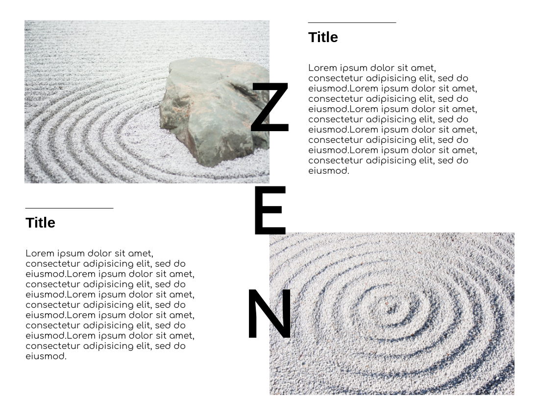 Brochure template: Zen Brochure (Created by InfoART's Brochure marker)