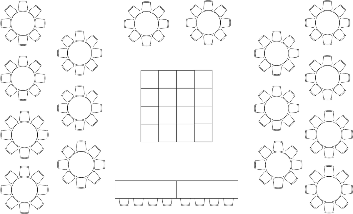 Seating Chart template: Wedding Seating Plan (Created by Diagrams's Seating Chart maker)