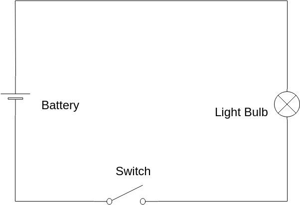 simple electric circuit  basic electrical diagram template