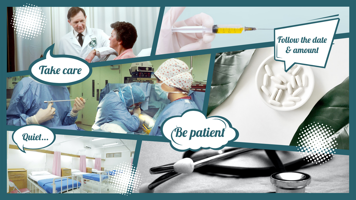Comic Strip template: Medical Comic Strip (Created by Collage's Comic Strip maker)