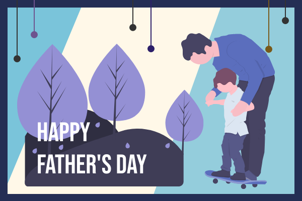 Greeting Card template: Happy Father's Day Illustration Greeting Card (Created by InfoART's Greeting Card marker)