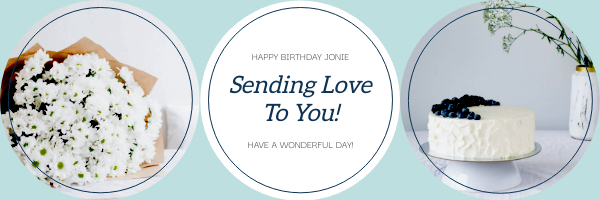 Email Header template: Birthday Sending Love To You Email Header (Created by InfoART's Email Header maker)