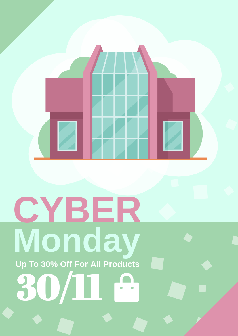 Flyer template: Cyber Monday Graphic Design Flyer (Created by InfoART's Flyer maker)