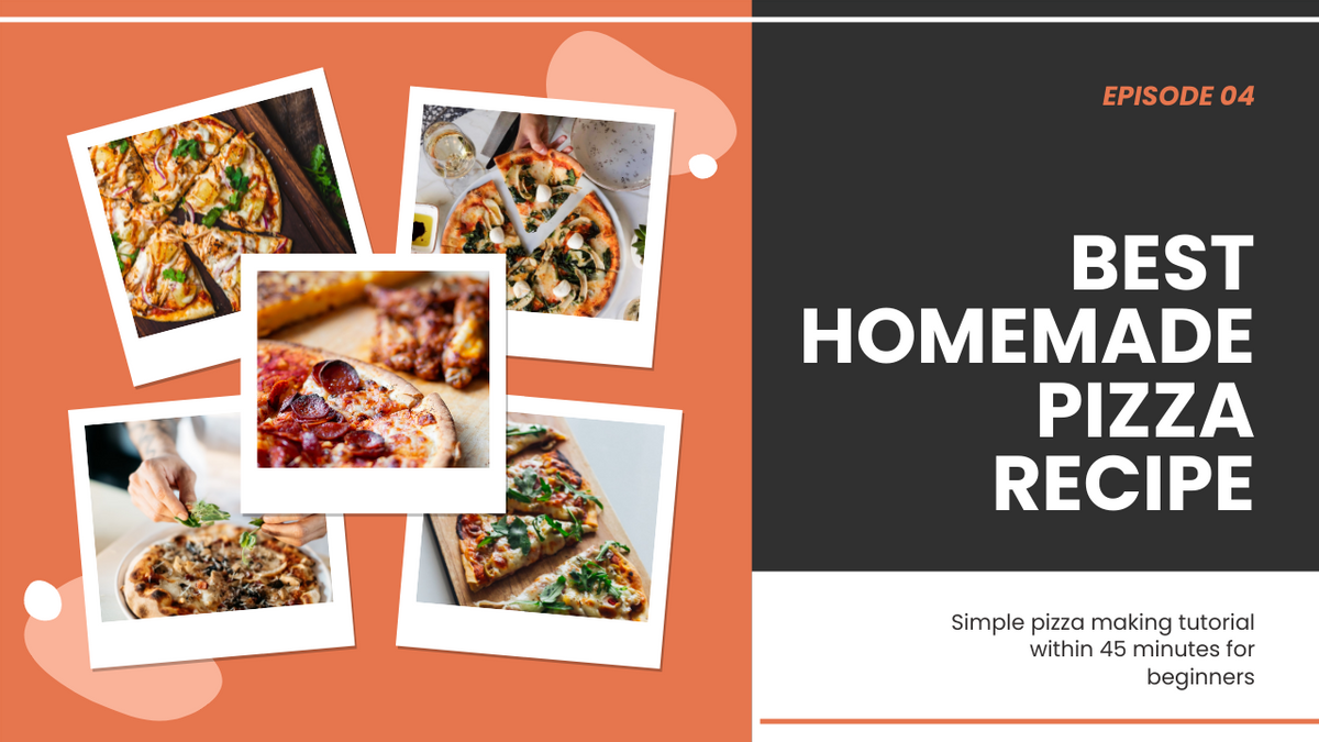 YouTube Thumbnail template: Best Handmade Pizza Recipe YouTube Thumbnail (Created by Collage's YouTube Thumbnail maker)