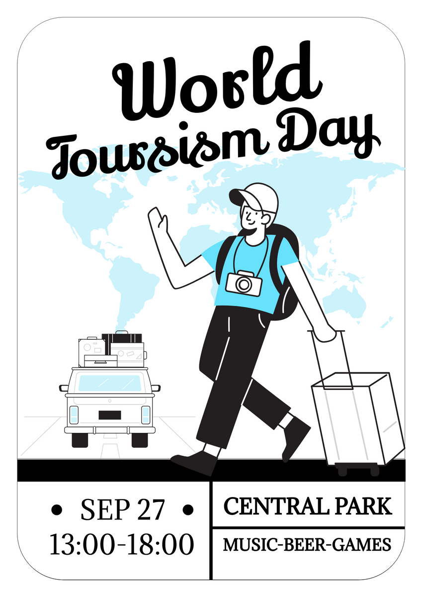 Poster template: World Tourism Day Celebration Poster (Created by InfoART's Poster maker)