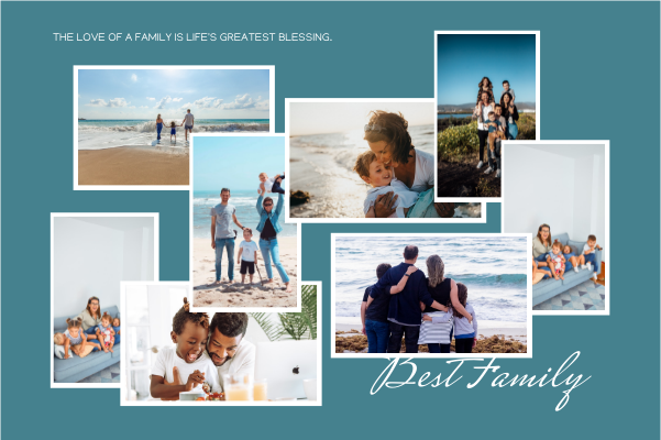 Greeting Card template: Love Of A Family Greeting Card (Created by Collage's Greeting Card maker)