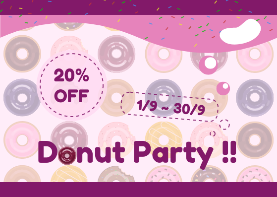 Gift Card template: Donut Gift Card (Created by InfoART's Gift Card marker)