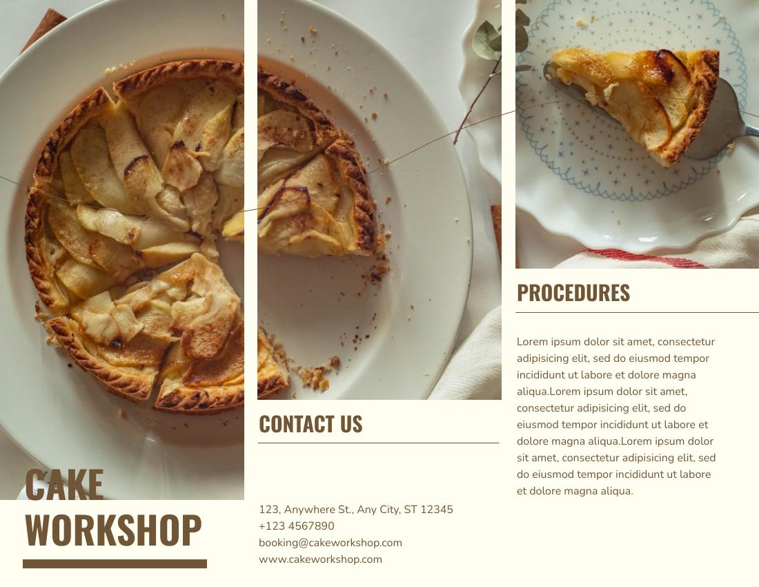 Brochure template: Cake Workshop Brochure (Created by InfoART's Brochure marker)