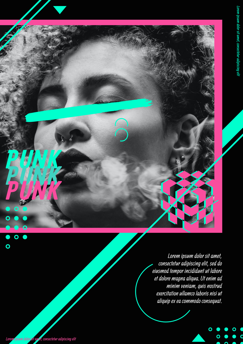 Poster template: Cypher Punk Poster (Created by InfoART's Poster maker)