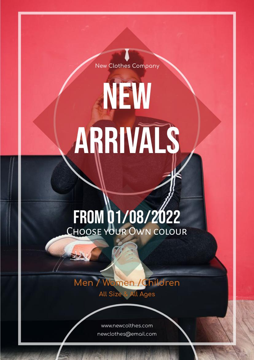 Flyer template: New Arrival Flyer 4 (Created by InfoART's Flyer maker)