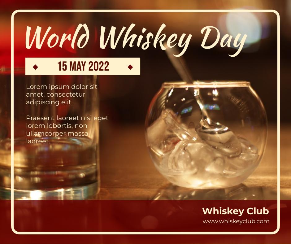 Facebook Post template: World Whiskey Promotional Facebook Post (Created by InfoART's Facebook Post maker)