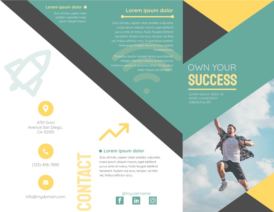 Brochure template: Own Your Success (Created by InfoART's Brochure marker)