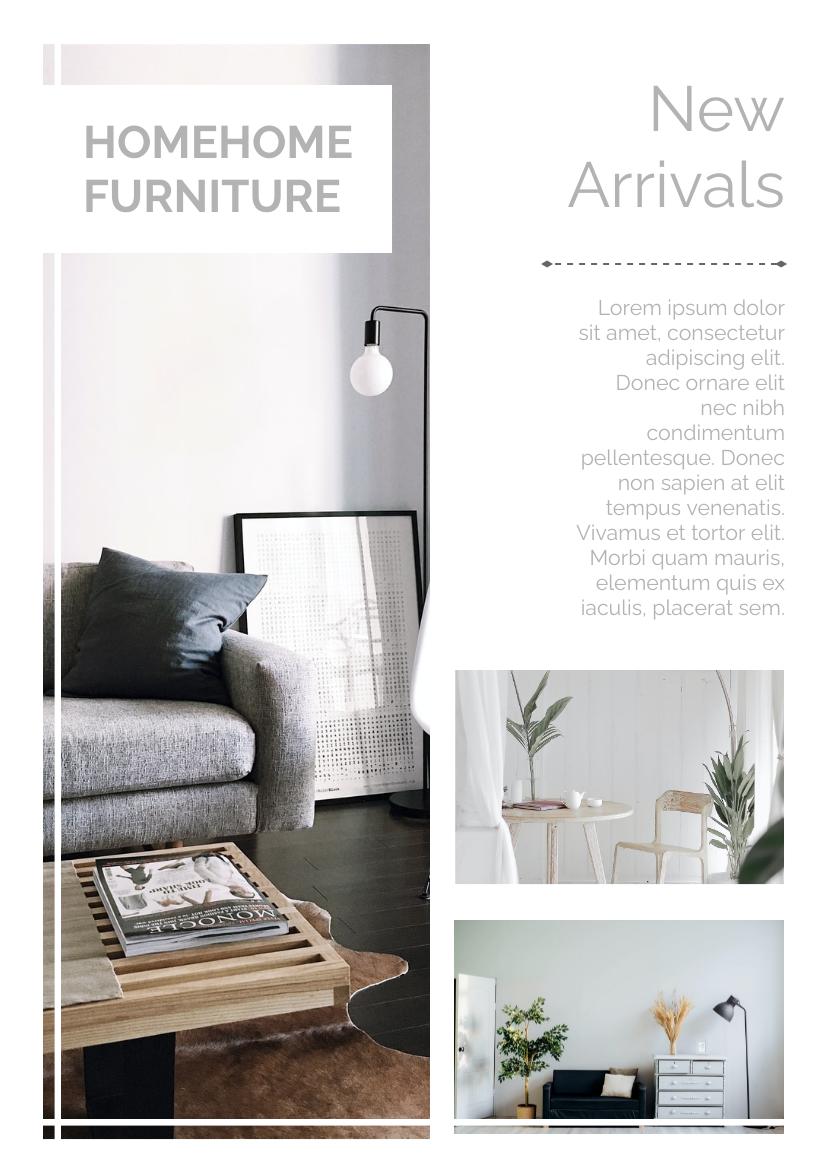 Flyer template: Furniture New Arrivals Flyer (Created by InfoART's Flyer maker)