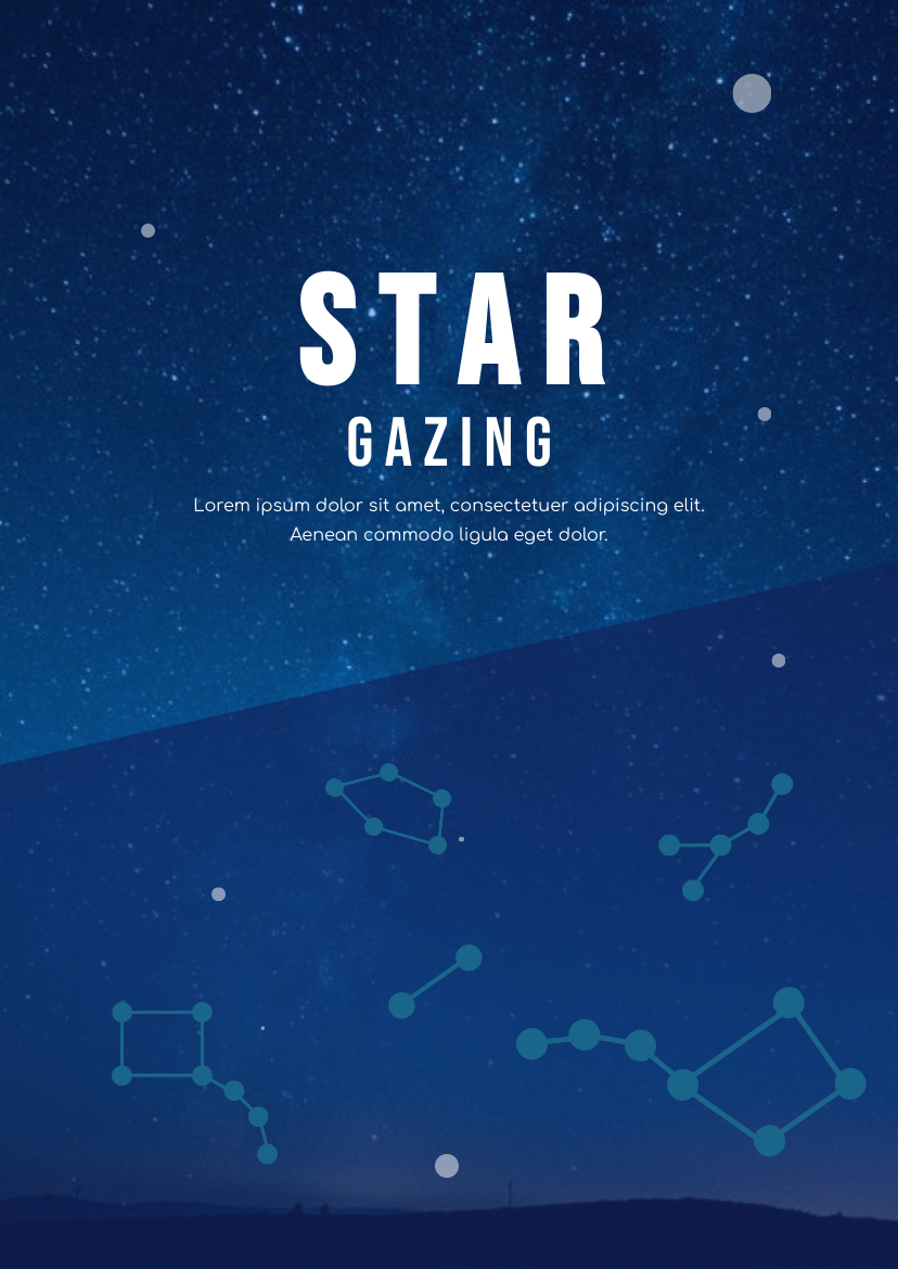 Flyer template: Star Gazing Flyer (Created by InfoART's Flyer maker)
