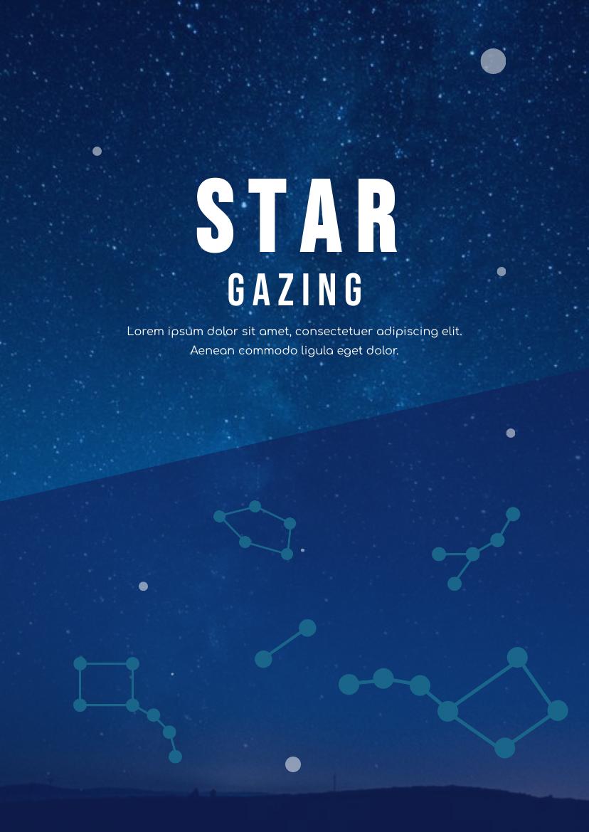 Flyer template: Stargazing Flyer (Created by InfoART's Flyer maker)