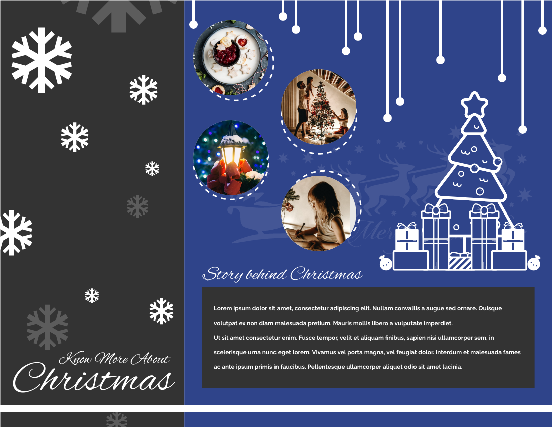 Brochure template: Know More About Christmas Brochure (Created by InfoART's Brochure maker)