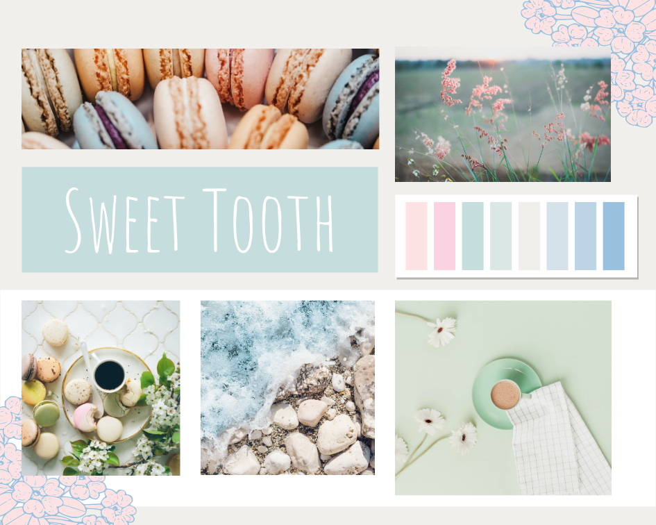 Mood Board template: Sweet Tooth Mood Board (Created by Collage's Mood Board maker)
