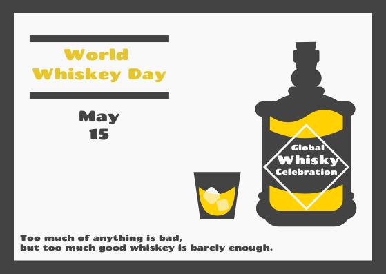 Postcard template: World Whiskey Day Postcard (Created by InfoART's Postcard maker)