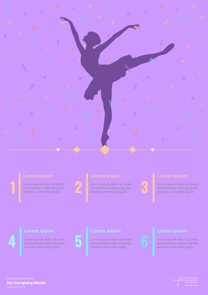 Flyer template: Ballet Class Flyers (Created by InfoART's Flyer maker)
