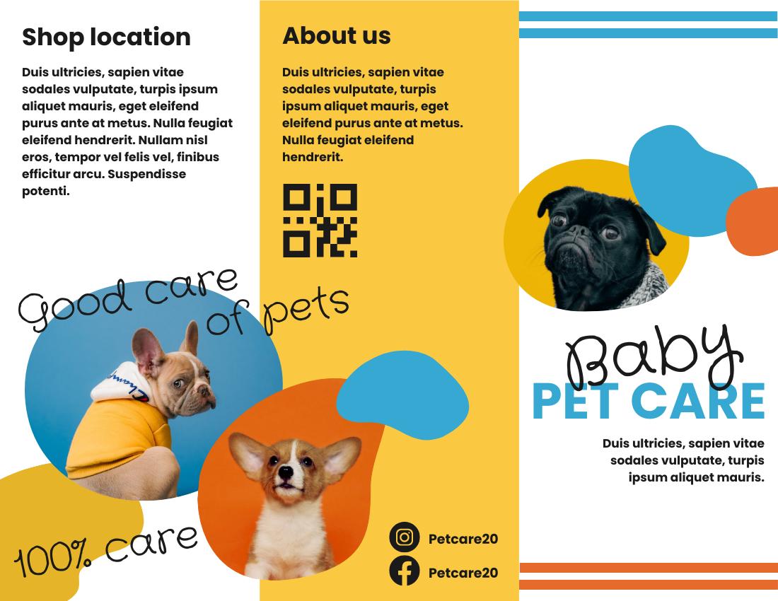 Brochure template: Baby Pet Care Brochure (Created by InfoART's Brochure marker)