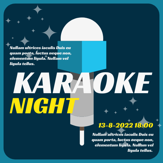 Invitation template: Karaoke Night (Created by InfoART's Invitation marker)