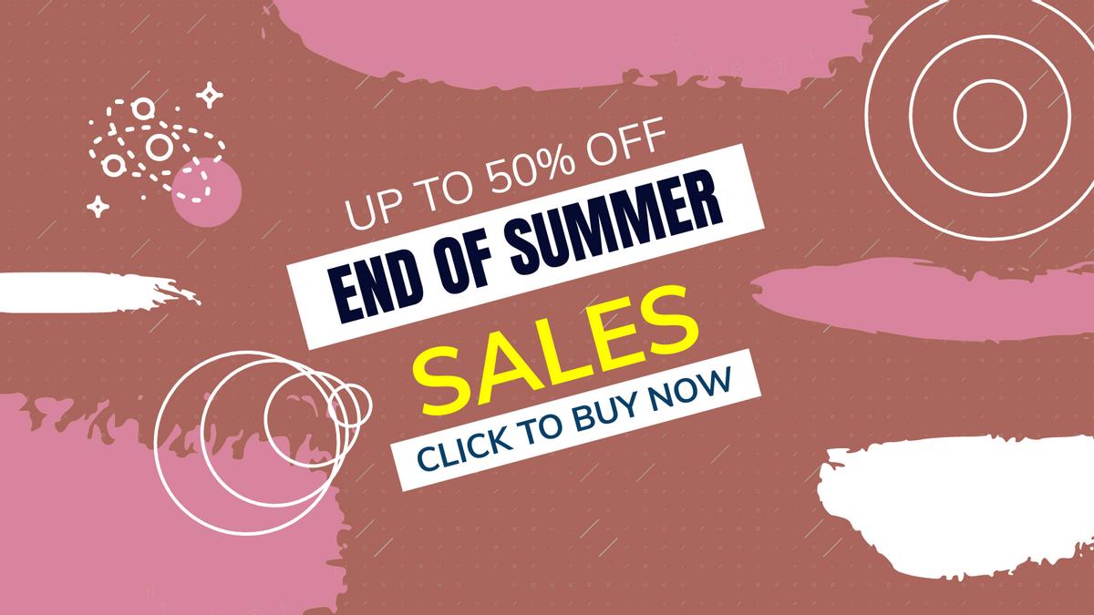 Twitter Post template: End Of Summer Sale Twitter Post (Created by InfoART's Twitter Post maker)
