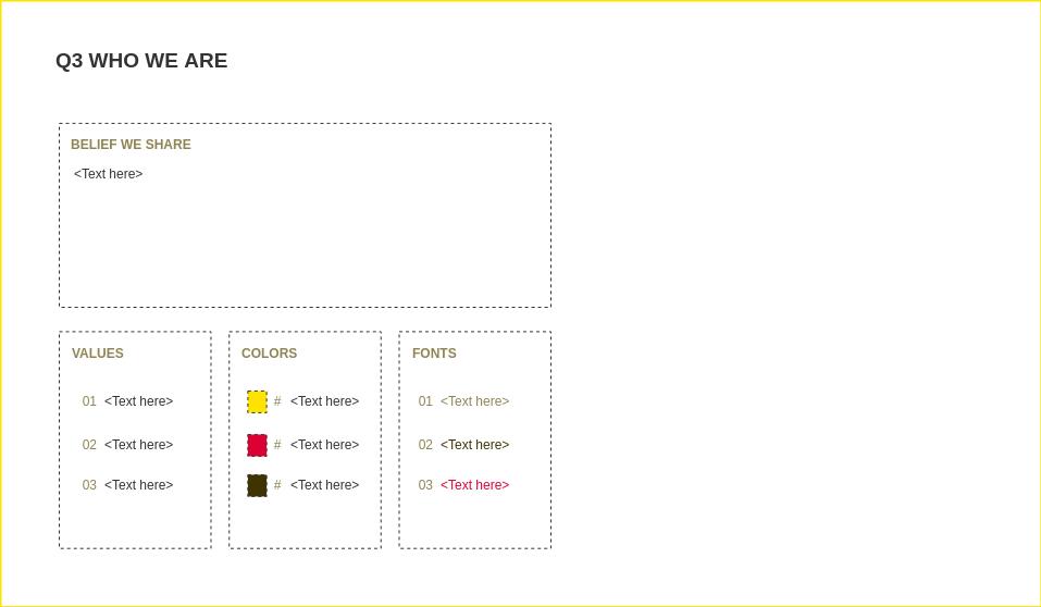 4Qs Framework template: 4Qs Framework - Quadrant 03 (Created by Diagrams's 4Qs Framework maker)