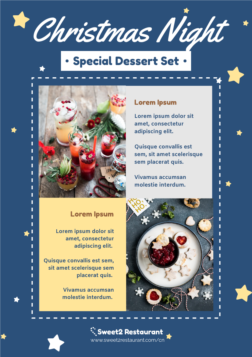 Flyer template: Christmas Special Meal Set Flyer (Created by InfoART's Flyer maker)