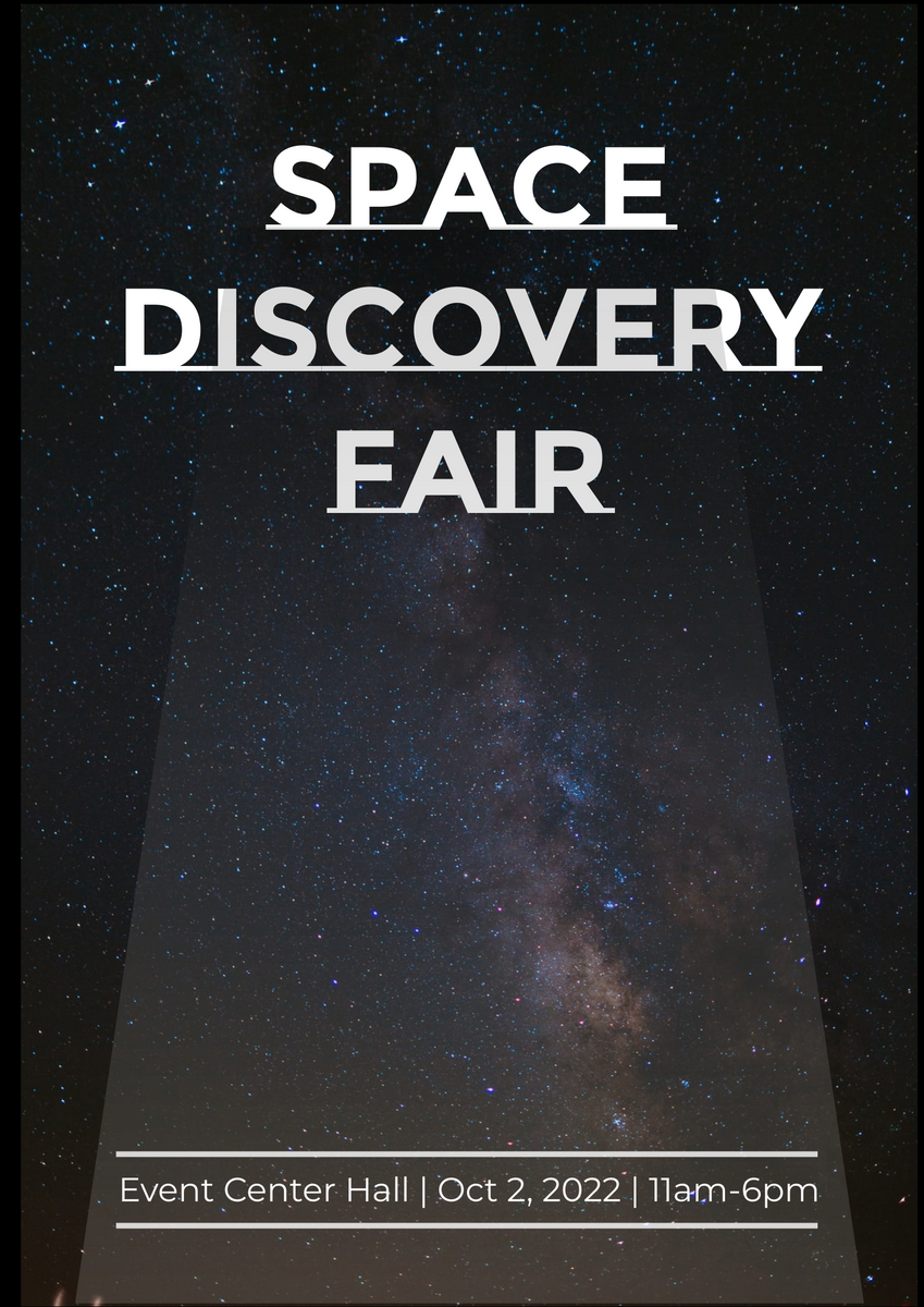 Poster template: Space Discovery Fair Poster (Created by InfoART's Poster maker)
