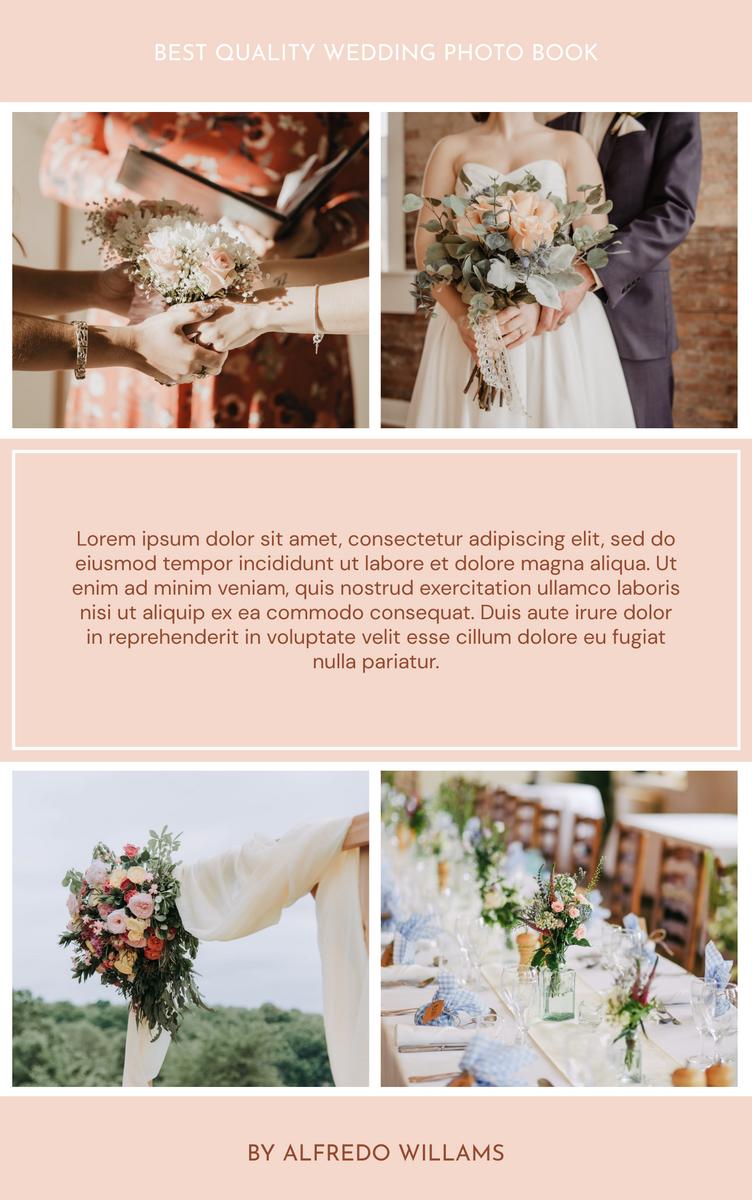 Book Cover template: A Practical Wedding Planning Book Cover (Created by InfoART's Book Cover maker)