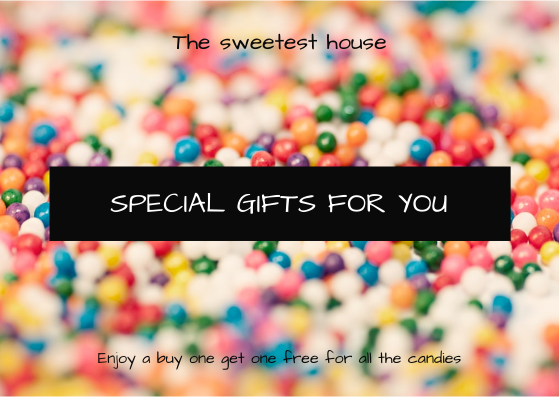 Gift Card template: Colorful Candy Background Special Gift Card (Created by InfoART's Gift Card maker)