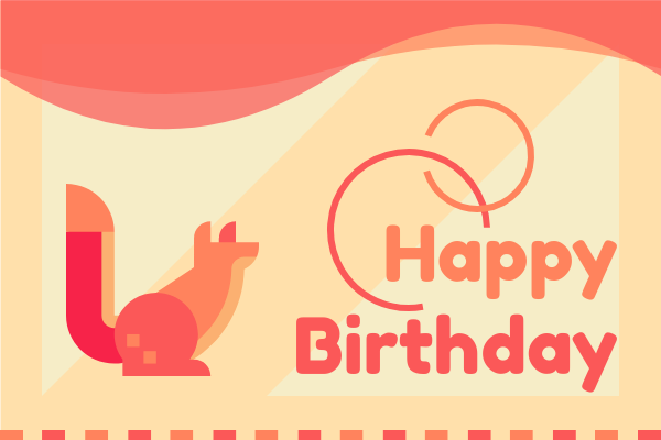 Greeting Card template: Cute Animal Birthday Card (Created by InfoART's Greeting Card maker)