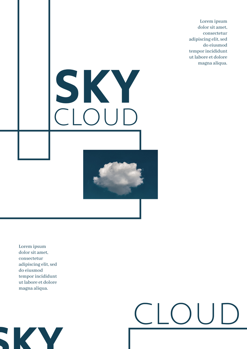 Poster template: Sky and Cloud Poster (Created by InfoART's Poster maker)