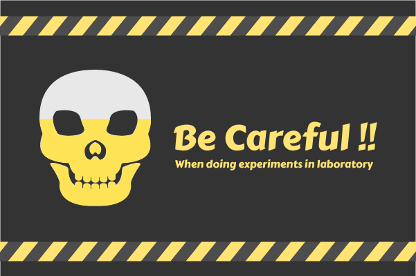 Laboratory template: Be Careful In Laboratory (Created by InfoChart's Laboratory maker)