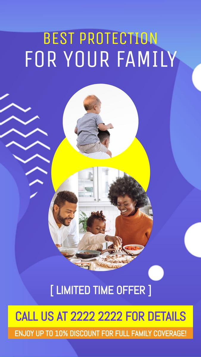 Instagram Story template: Family Protection Insurance Instagram Story (Created by InfoART's Instagram Story maker)