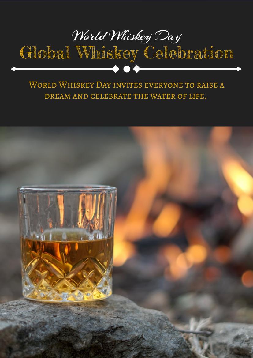 Flyer template: World Whiskey Day Flyer 3 (Created by InfoART's Flyer maker)