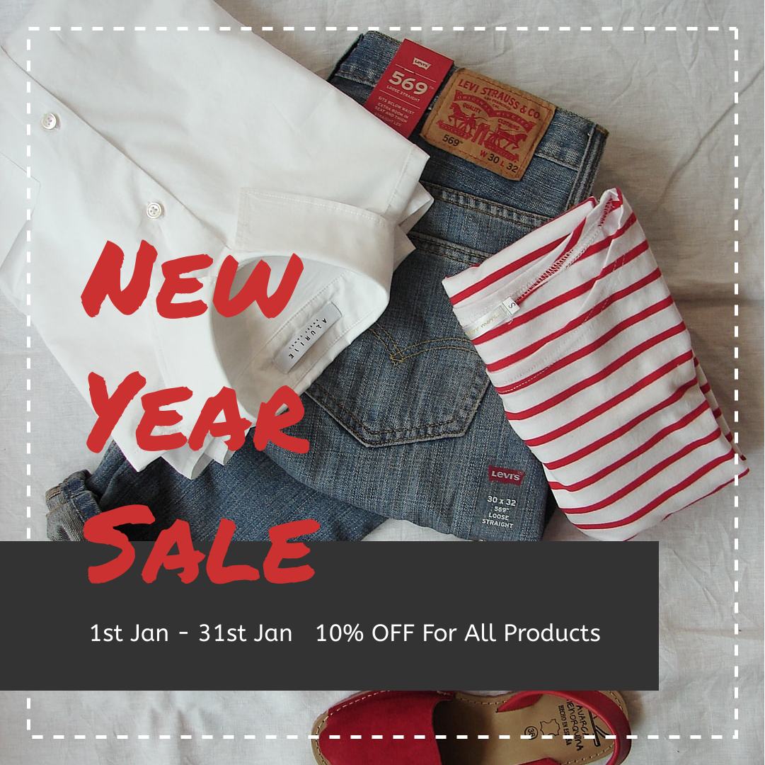 Instagram Post template: Clothing New Year Sale Instagram Post (Created by InfoART's Instagram Post maker)