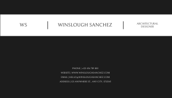 Business Card template: Black And White Architecture Photo Business Card (Created by InfoART's Business Card maker)