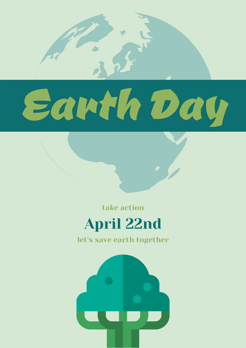 Poster template: Earth Day Poster (Created by InfoART's Poster maker)