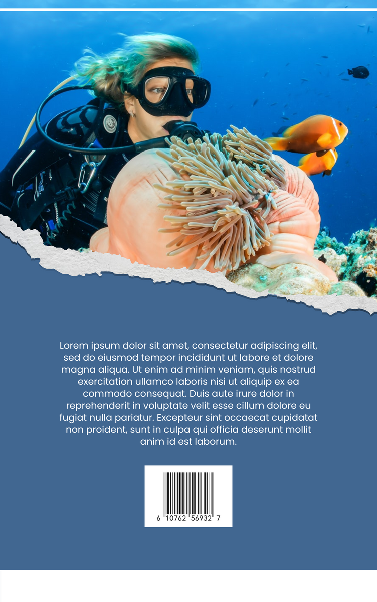 Book Cover template: Scuba Diving Book Cover (Created by InfoART's Book Cover maker)