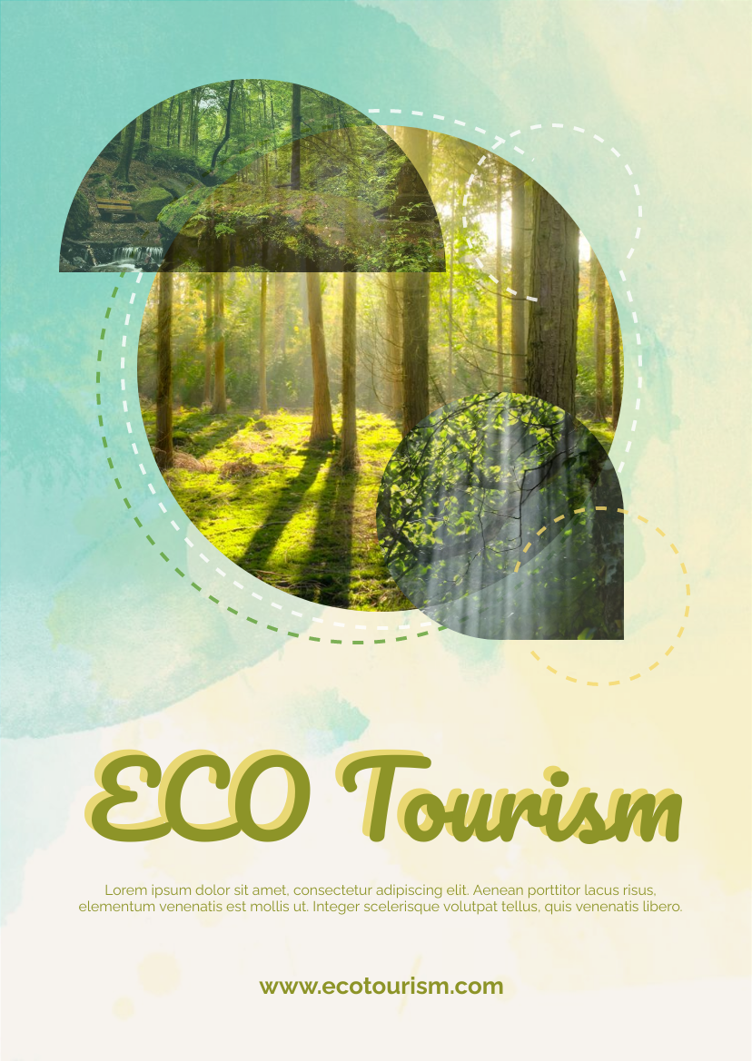 Flyer template: Artistic ECO Tourism Flyer (Created by InfoART's Flyer maker)