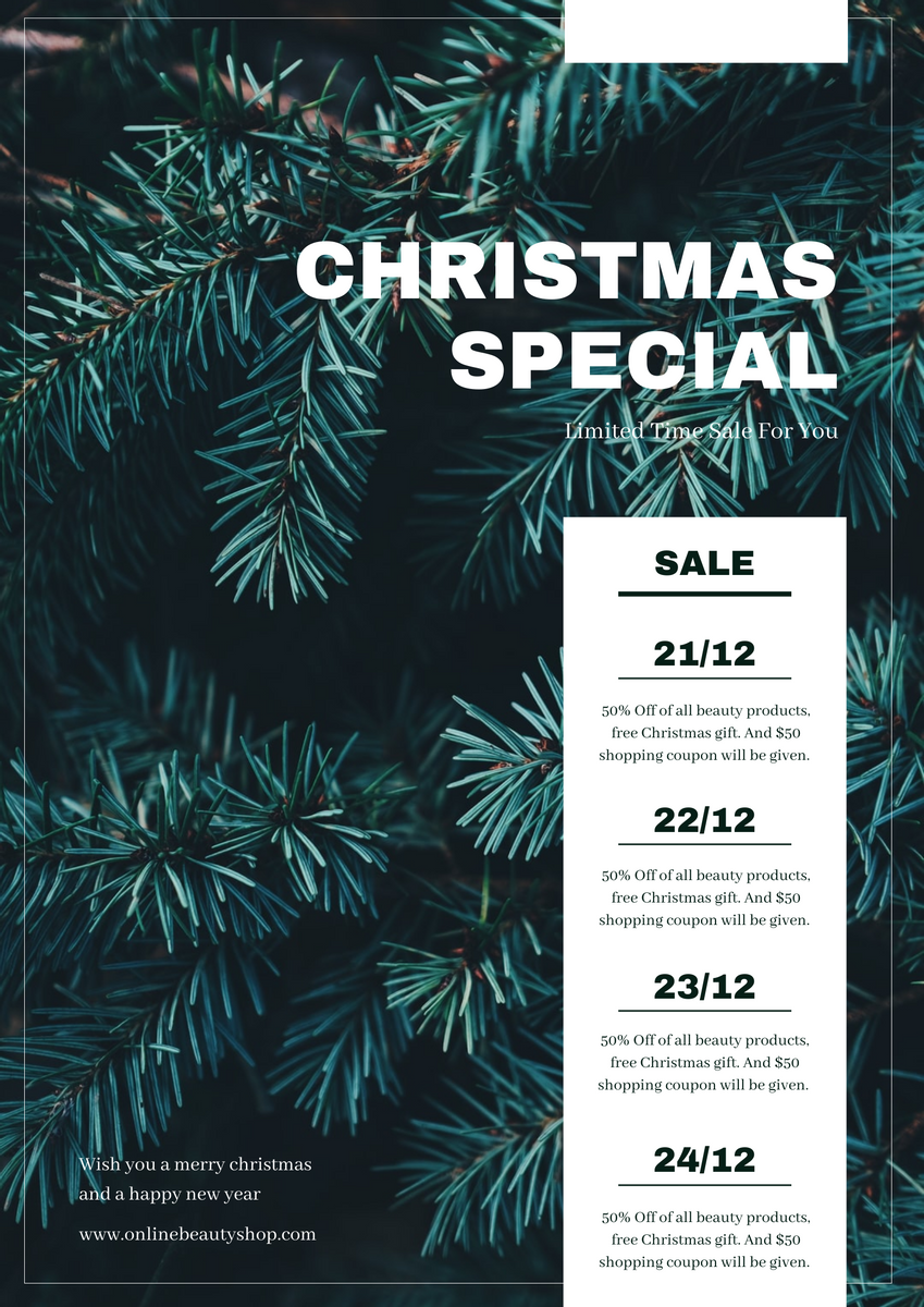 Poster template: Christmas Online Sale Poster (Created by InfoART's Poster maker)