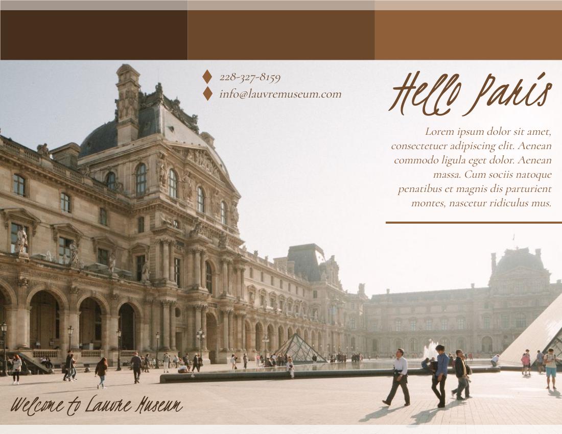 Brochure template: Paris Brochure (Created by InfoART's Brochure marker)