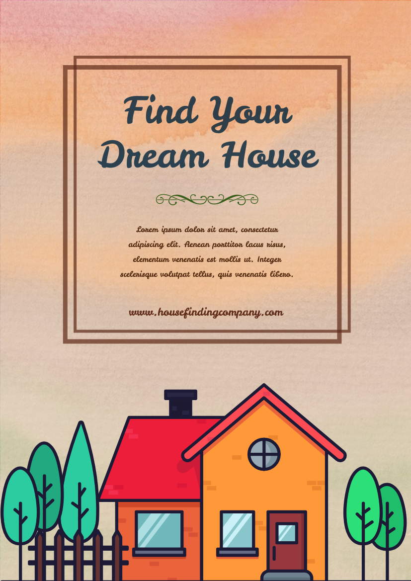 Flyer template: Find Your Dream House Flyer (Created by InfoART's Flyer maker)