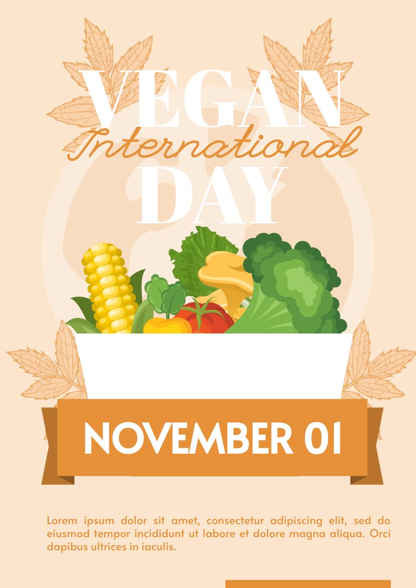 Flyer template: Vegan Day Week Flyer (Created by InfoART's Flyer maker)