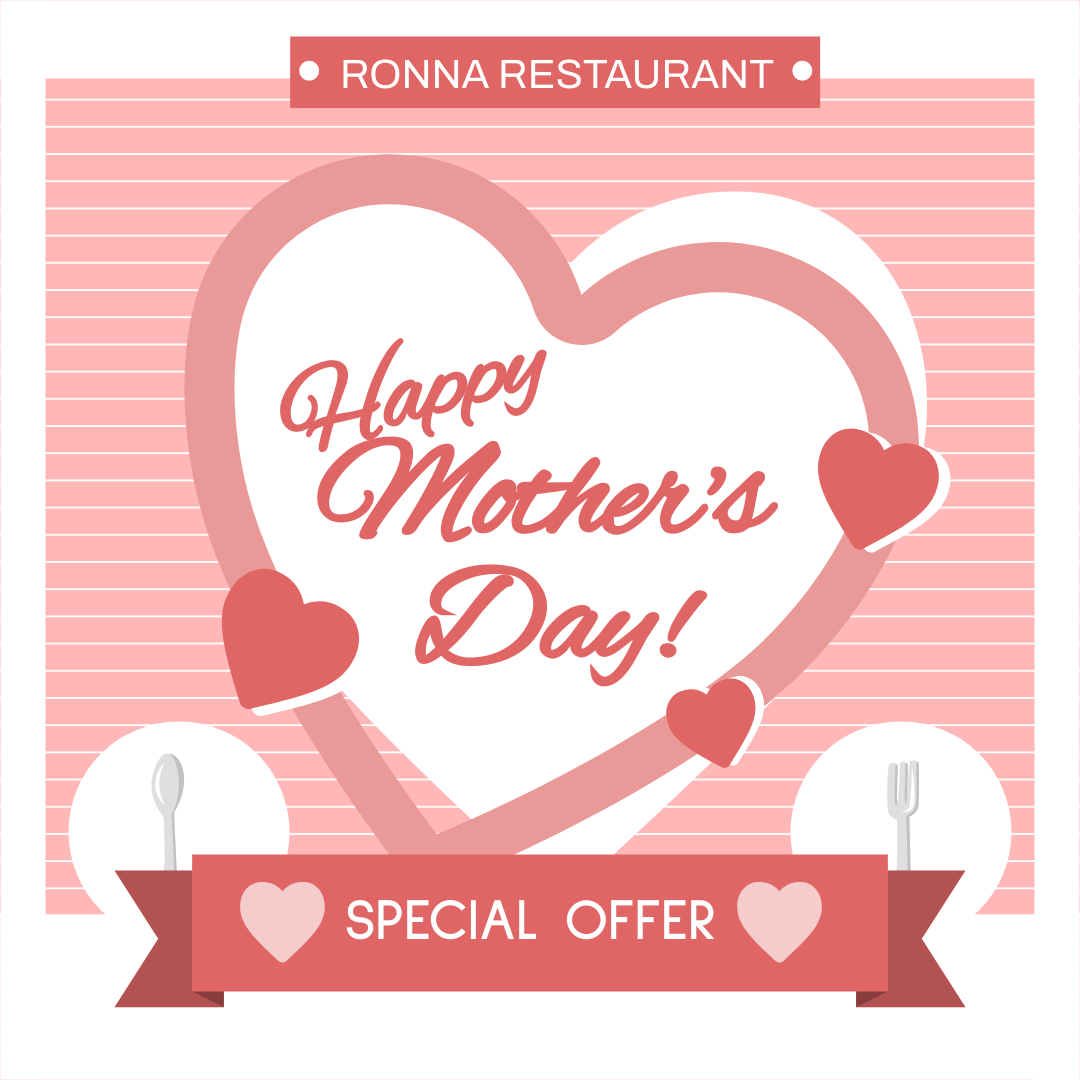 Instagram Post template: Mother's Day Restaurant Instagram Post (Created by InfoART's Instagram Post maker)