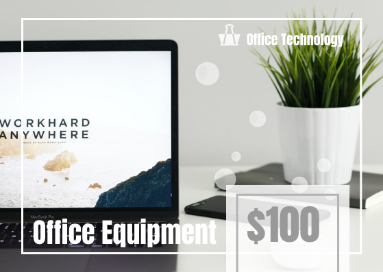 Gift Card template: Office Equipment Gift Card (Created by InfoART's Gift Card marker)