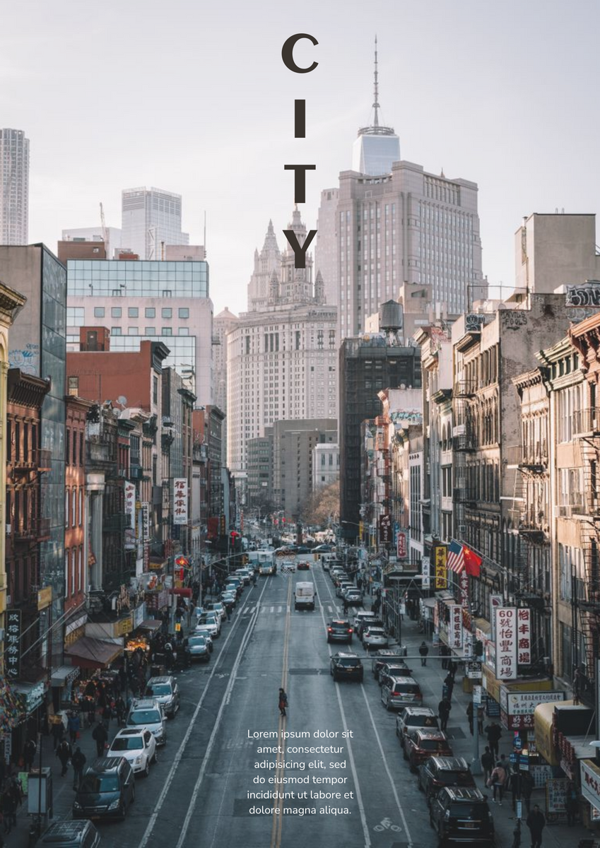 Poster template: Cityscape Poster (Created by InfoART's Poster maker)